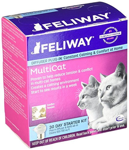 CEVA Animal Health D89410B Feliway MultiCat Starter Kit, 48ml