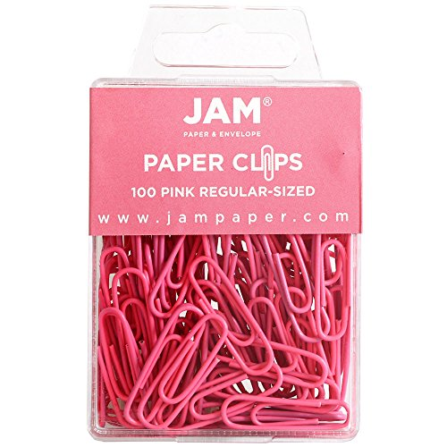 JAM Paper Colored Standard Paper Clips - Small - Pink - 2/pack
