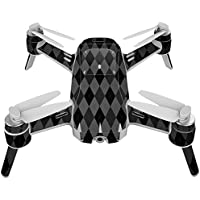 Skin For Yuneec Breeze 4K Drone – Black Argyle | MightySkins Protective, Durable, and Unique Vinyl Decal wrap cover | Easy To Apply, Remove, and Change Styles | Made in the USA