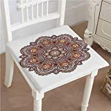 Mikihome Outdoor Chair Cushion Native Sacred Labyrinth with Occult Interlace Curl Habitat Brown Comfortable, Indoor, Dining Living Room, Kitchen, Office, Den, Washable 30''x30''x2pcs