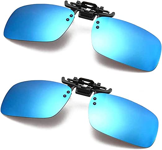 Frameless Driving Polarized Clip-on Glasses Lens Sunglasses for Myopia Glasses Outdoor//Driving//Fishing