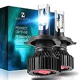 Nordlichter Ultra Bright H7 LED Headlight Bulbs,ZES Chips Conversion Kit,8000 Lumens 6000K Cool White