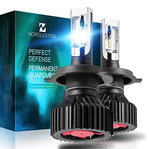 (Nordlichter Ultra Bright H7 LED Headlight Bulbs,ZES Chips Conversion Kit,8000 Lumens 6000K Cool White)