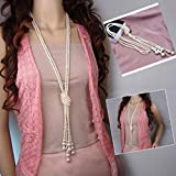 New Women Multilayer Long Pearl Necklace Pendant Sweater Chain Jewelry Gift#by pimchanok shop