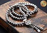 New 108 Buddha Beads Self Defence Stainless Steel Necklace Chain - NEW 2018 VERSION (Full Stainless Steel)