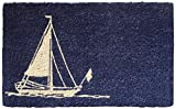 Entryways Sailboat Hand Woven Coir Doormat, 18 by 30-Inch