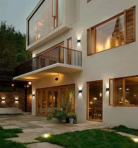 Yosoan LED-Wandleuchte Up&Down Wandleuchte Außenwandleuchte inkl. 8x 1W Natürliches Weiß Lichtstrahl Leuchtmittel Außenleuchte Außenlampe Wandlampe für Innen und Außen (8 * 1W 4000K)