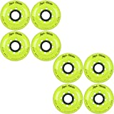 Labeda Inline Roller Hockey Skate Wheels Addiction Yellow 72mm SET OF 8