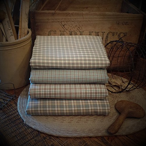 (4 Count~Front Porch Collection~Homespun Fabric Fat Quarter Bundle & Cinnamon~Vanilla Scented Hang Tag~ Primitive~Raggy~Quilts~)