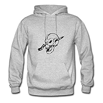Ebolam Style Personality Women Skulls Art Design T-shirt Sweatshirts - Skulls Art Design T-shirt Image In X-large