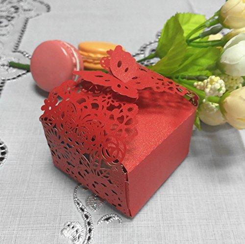 50pcs Laser Cut Flower Candy Boxes,2.6