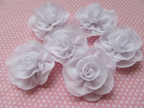 "YYCRAFT 2.25"" Craft Chiffon Flowers, 10pcs Chiffon, used for sale  Delivered anywhere in USA"