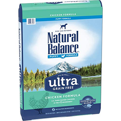 - Natural Balance Original Ultra Grain Free Puppy Dog Food, Chicken Formula, 24-Pound Bag