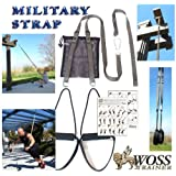 WOSS Military Strap Trainer, Gunmetal Grey, Made in USA Suspension System