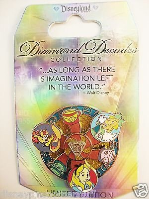 Disneyland 60th Diamond Decades Alice in Wonderland Mad Tea Party Spinning Pin