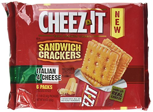Cheez-It Kellogg's Sandwich Crackers, Italian 4 Cheese, 8.9 Ounce
