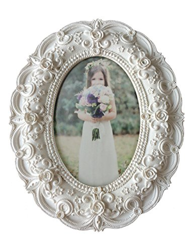 Kingwin Resin 4 By 6 Inch Photo Frame - White Frame Baroque