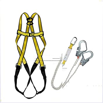 ZLQF Arnés de Escalada Cuerpo con Cuerda de Seguridad para Escalar ...