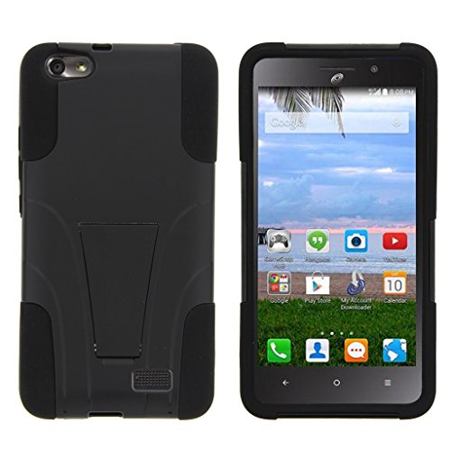 MINITURTLE Case Compatible w/Huawei Raven LTE Case, Raven Cover [Strike Impact] Dual Layer Hard Plastic Rugged Shell w/Stand Black