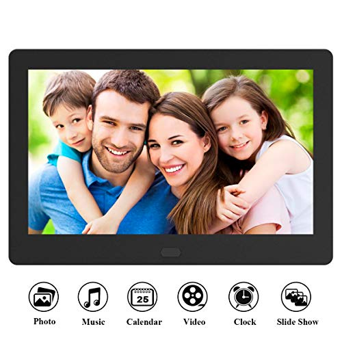 Digital Photo Frame 7 Inch 1280x800 16:9 IPS Widescreen, FamBrow Electronic Digital Picture Frame with Remote Control, Calendar, Timing On/Off, Slideshow, Support 1080P Video, Background ()