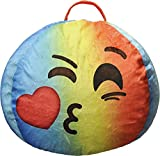 Emoji Pals Emoji Sealed with a Kiss Bean Bag, Tye Dye