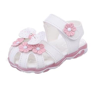 Bébé LED Chaussures Bébé Sandales Fille Glow Princess Chaussures Bébé  Lumineux Chaussures Première Marche Chaussures 805badcdfc2f