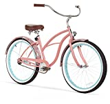 sixthreezero Women's 1-Speed 26-Inch Beach Cruiser Bicycle, Paisley Coral Pink