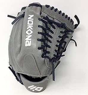 product image for Nokona AmericanKip 14U Gray with Navy Laces 11.25 Baseball Glove Mod Trap Web Right Hand Throw