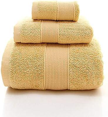 100/% Algod/ón Juego de toallas 1 toalla de mano y 1 toallita Gris Toallas de ba/ño 420 GSM