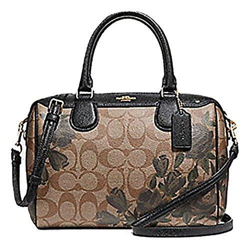 COACH MINI BENNETT SATCHEL WITH CAMO ROSE FLORAL PRINT, - Camouflage Handbags Coach