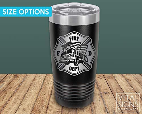 Fire Department, 20oz Tumbler, Beer Stein, Fireman Gift, Fireman gifts, Firefighter gift, Firefighter gifts, Flames, Beer stein, Firefighter retirement, Firefighter graduation, Fireman retirement -