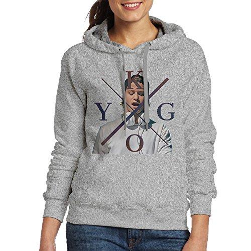 ITMEIAL Women's Kygo Logo Fleece Hoodie Ash XL