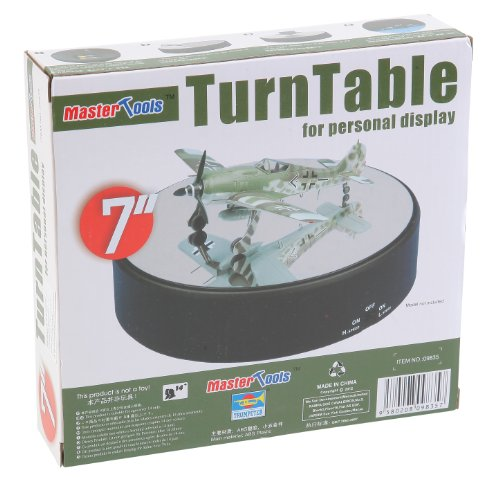 Rotating Base - Trumpeter Battery Operated Round Mirrored Display Turntable for Model Kits