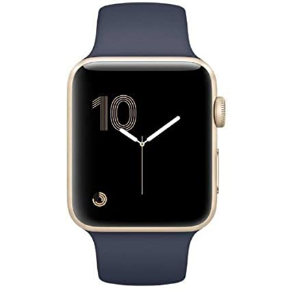 Apple Watch Series 2 38mm Smartwatch (Gold Aluminum Case & Midnight Blue Strap)
