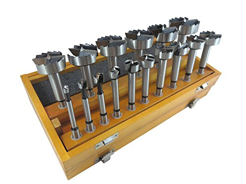 16 Piece Forstner Drill Bit Set with Bits from 1/4