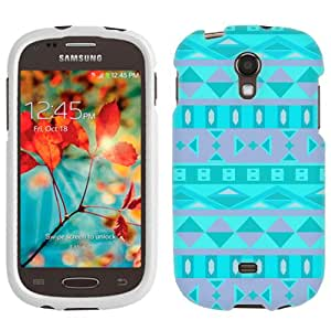 Samsung Galaxy Light Aztec Andes Tribal Teal Pattern Phone Case