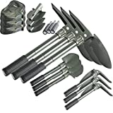 3 Pack Folding Camping Survival Shovel with Pick 16'' Garden Military Style Survival w/ Pick Tool & Case