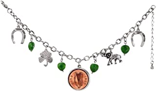 product image for American Coin Treasures Irish Penny Lucky Charm Silver Tone Bracelet