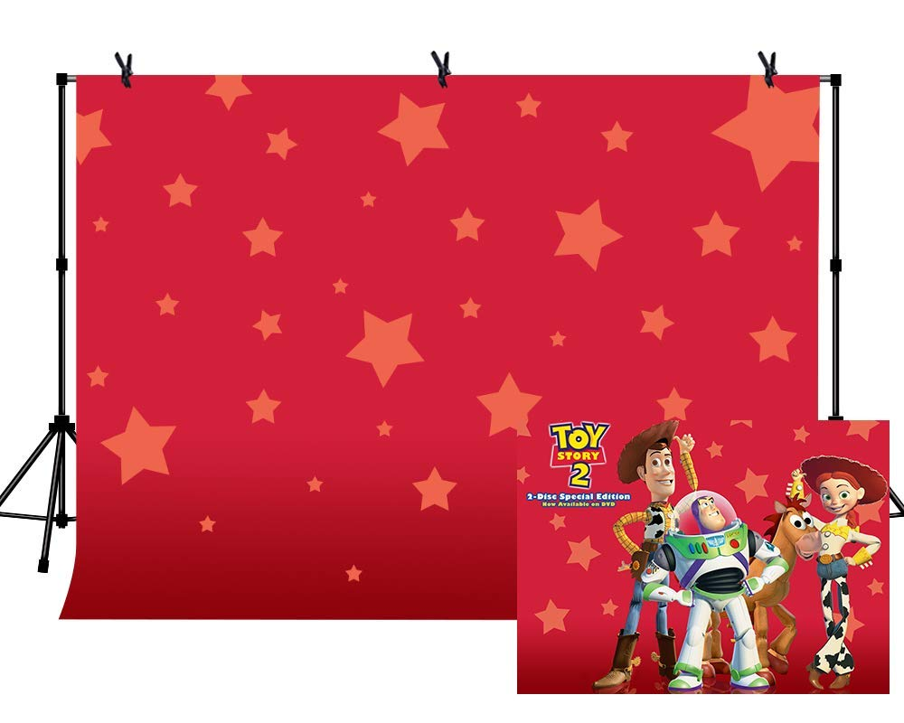EdCott 7x5ft Estrellas sobre Fondo Rojo Toy Story Tema ...