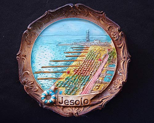 Home Comforts Peel-n-Stick Poster of Wall Plate Souvenir Relief Jesolo Italy Memory Vivid Imagery Poster 24 x 16 Adhesive Sticker Poster Print