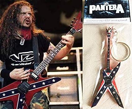 Keychain Guitar Dean Dixie Rebel Dimebag Darrell Pantera