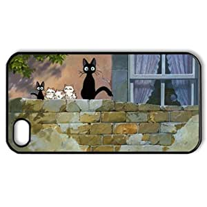CTSLR Cartoon & Anime Series Protective Hard Case Cover for iPhone 4 & 4S - 1 Pack - Kiki's Delivery Service - 7