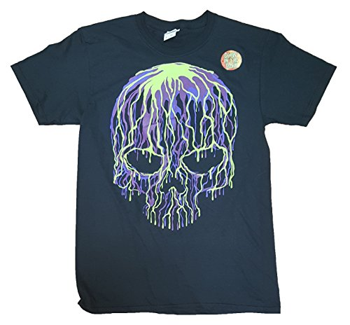 Halloween Dripping Skull Black Graphic T-Shirt - Large - Pelvis Skeleton Costume