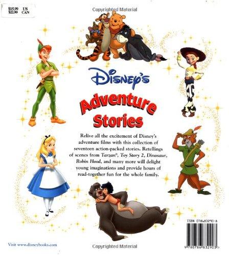 Amazon.com: Disney's Adventure Stories (Disney Storybook ...