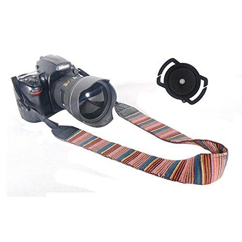 Retro Buckle (BaiBest Camera Soft Shoulder Neck Strap and Camera Buckle Lens Cap Holder for 67, 58 and 52mm Lens Cap Sizes (Retro)