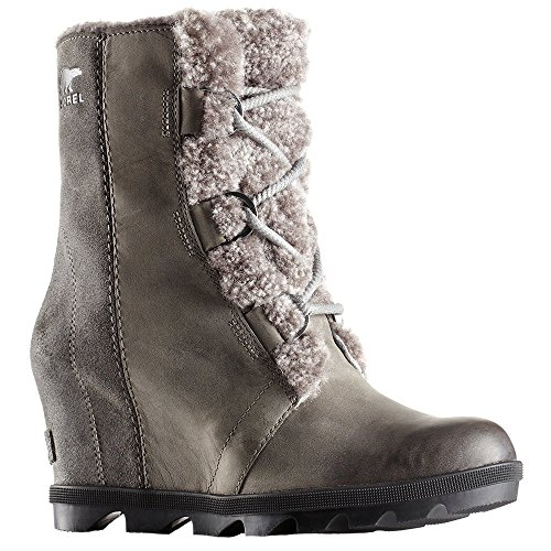 - Sorel Joan of Arctic Wedge II Shearling Winter Boots - Women's Quarry 9