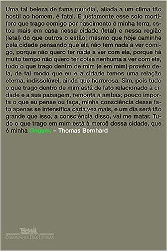 Origem Capa comum - Thomas Bernhard