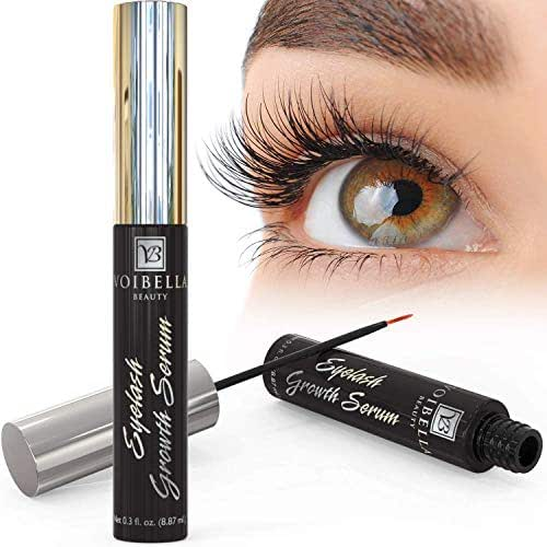 Voibella Eyelash Growth Serum and Eyebrow Enhancer 8.87ML - Best Natural Eye Lash Enhancing and Rapid Brow Growing Treatment To Dramatically Boost and Grow Ultra Thick, Longer, Lush and Lavish Lashes