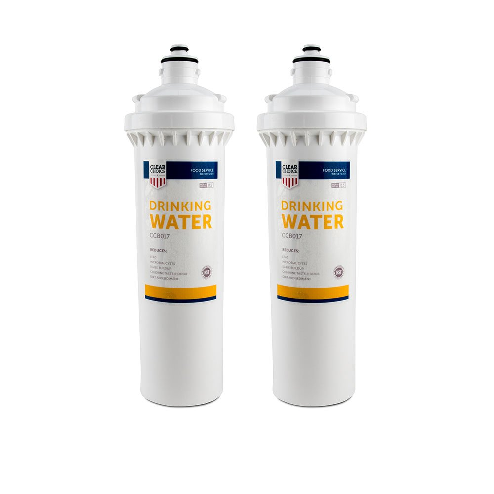 Clear Choice Drinking Water Filtration System Replacement Cartridge for Everpure EV9270-74 EV9611-16 EV9612-11 EV9612-16 EV9635-06 H-104 Also Compatible with Nu Calgon 9635-06, 2-Pack