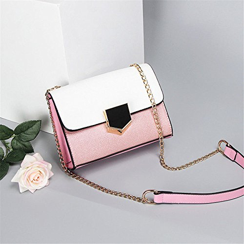 Women'S Chain Bag With Single Shoulder Bag,Pink,200X150X80Mm by SJMMBB (Image #2)